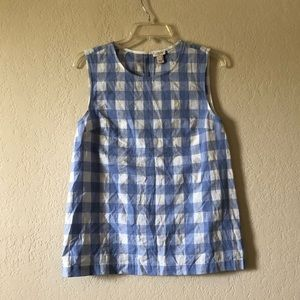 J Crew Gingham shell top